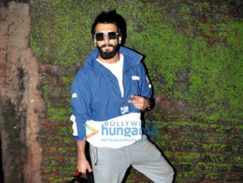 Ranveer Singh snapped post an ad shoot