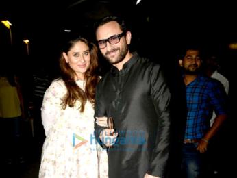 Saif Ali Khan and Kareena Kapoor Khan snapped post Harper's Bazaar Bride shoot in Mumbai