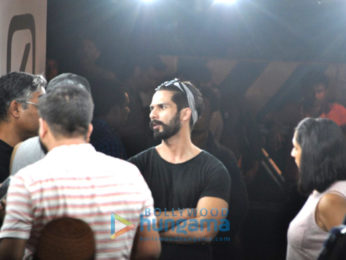 Shahid Kapoor shoots for an ad in Bandra