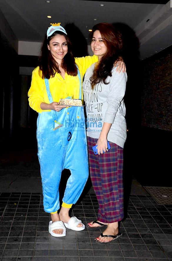 Soha Ali Khan attends a pyjama birthday bash with close friends