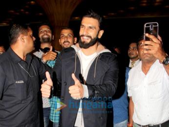Ranveer Singh and Vaani Kapoor depart for the trailer launch of Befikre in Paris