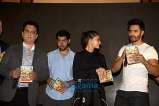 Varun Dhawan, Jacqueline Fernandez & Sajid Nadiadwala at 'Dishoom- Abu Dhabi Film Commission' media meet
