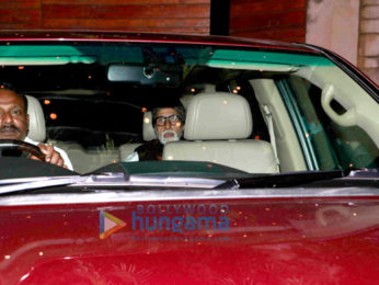 Amitabh Bachchan and Aishwarya Rai Bachchan snapped post the engagement ceremony of a close friend