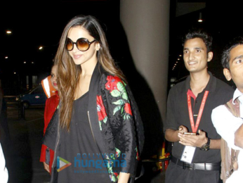 Deepika Padukone returns from MTV event in Rotterdam