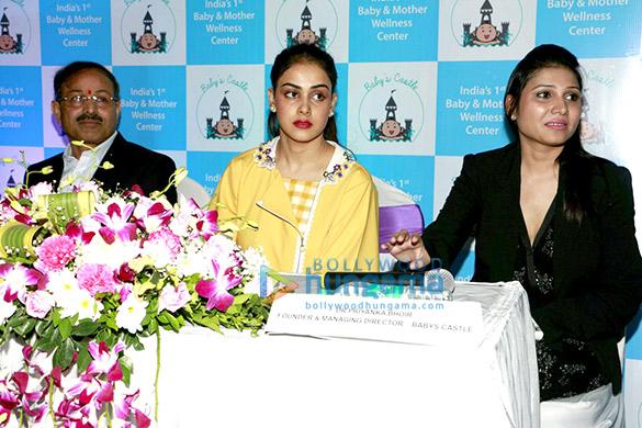 Genelia DSouza graces Baby's Castle wellness launch