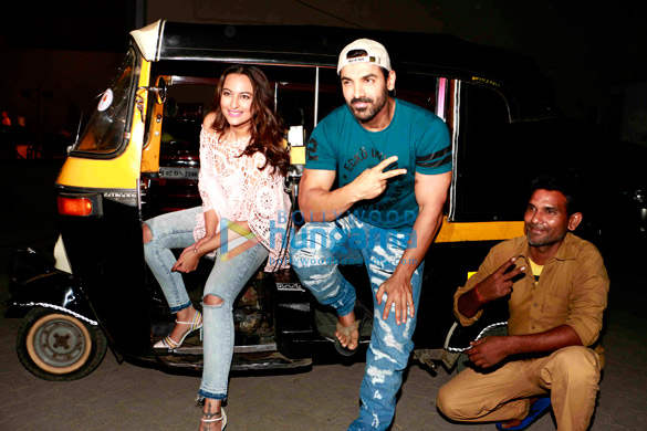 John Abraham and Sonakshi Sinha snapped promoting their film 'Force 2'