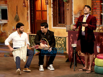 Karan Johar on the sets of The Kapil Sharma Show