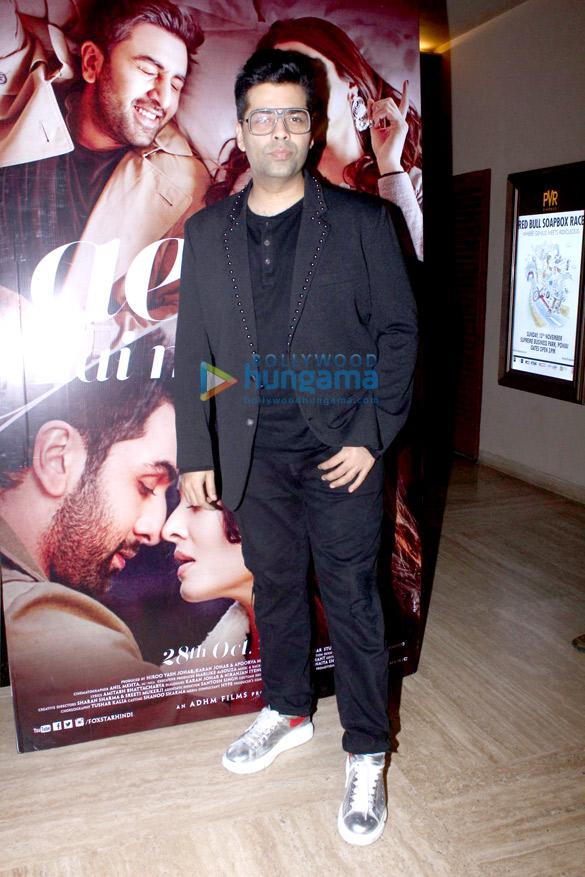 Karan Johar promotes 'Ae Dil Hai Mushkil' with movie watching patrons