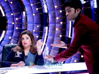 Jacqueline Fernandez, Farah Khan, Manish Paul & Karan Johar snapped on the sets of Jhalak Dikhhla Jaa