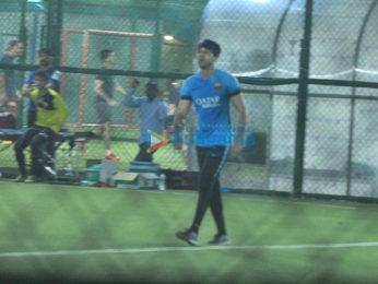 Ranbir Kapoor snapped during football practice