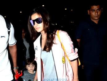 Shah Rukh Khan, Alia Bhatt & AbRam Khan return from Delhi post 'Dear Zindagi' promotions