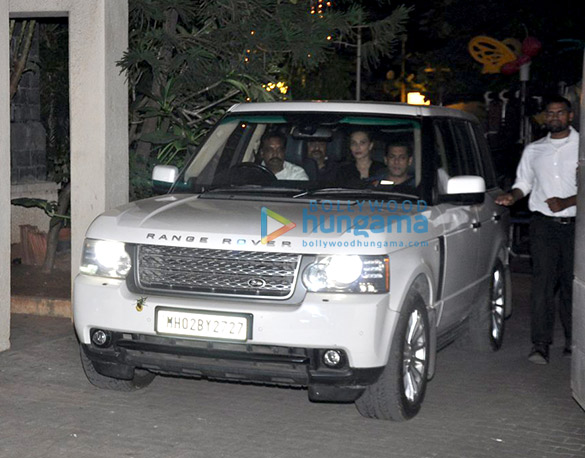 Salman Khan, Lulia Vantur, Saif Ali Khan and Kareena Kapoor Khan snapped post party at Amrita Arora's house