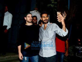 Sooraj Pancholi snapped post dinner in Bandra