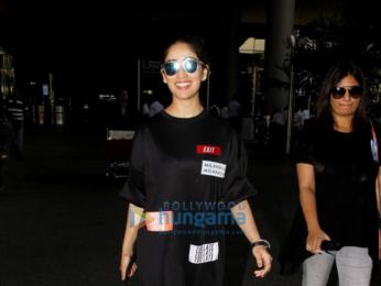 Yami Gautam snapped at the domestic airport