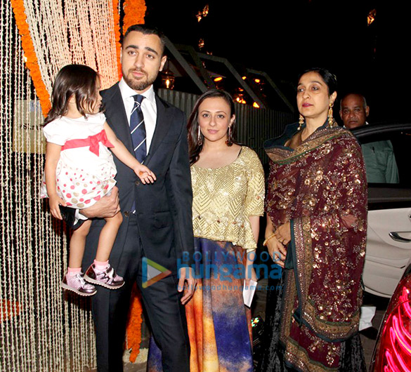 Imran Khan & Aamir Khan's family snapped at a family wedding