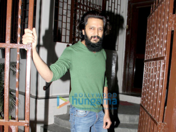 Abhishek Bachchan and Riteish Deshmukh snapped post their dubbing