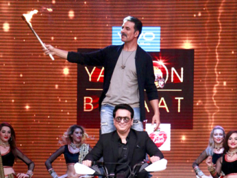 Akshay Kumar and Sajid Nadiadwala snapped on sets of Yaaron Ki Baraat