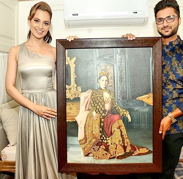 Check out Kangna Ranaut turns Queen once again for a portrait