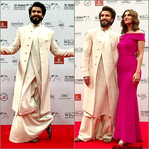 Check out Ranveer Singh makes a style statement with Vaani Kapoor at the Dubai premiere of Befikre2