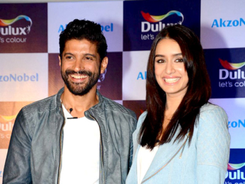 Farhan Akhtar and Shraddha Kapoor launch new colour range from Dulux