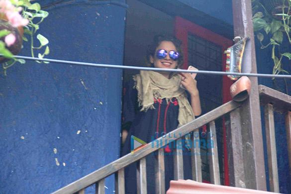 Kangna Ranaut snapped in Bandra