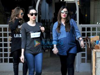 Kareena Kapoor Khan, Karisma Kapoor and Amrita Arora snapped post lunch in Bandra