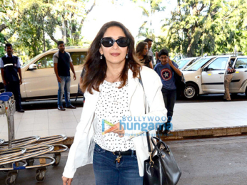 Madhuri Dixit snapped at the airport