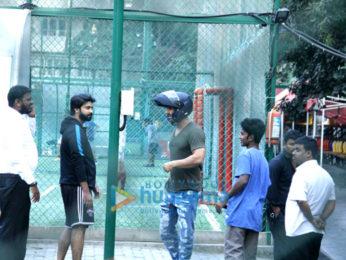 Ranbir Kapoor, Abhishek Bachchan and John Abraham snapped at football practice