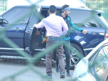 Ranbir Kapoor snapped at the football practice