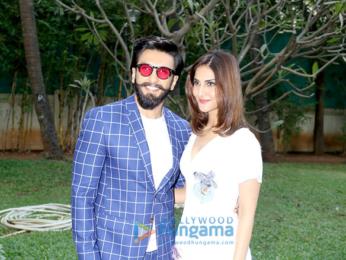 Ranveer Singh and Vaani Kapoor promote their film Befikre at Yashraj Studio