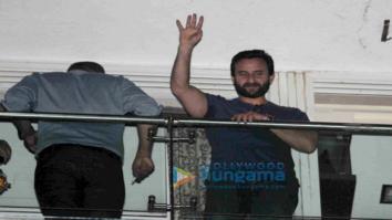 Saif Ali Khan, Karisma Kapoor, Soha Ali Khan and Kunal Khemu snapped post a party at Raj & DK's place in Bandra