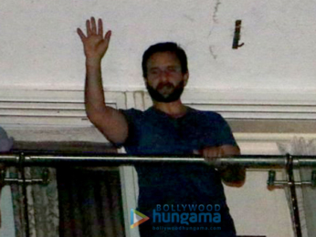 Saif Ali Khan, Karisma Kapoor, Soha Ali Khan and Kunal Khemu snapped post a party at Raj & DK's place in Bandra