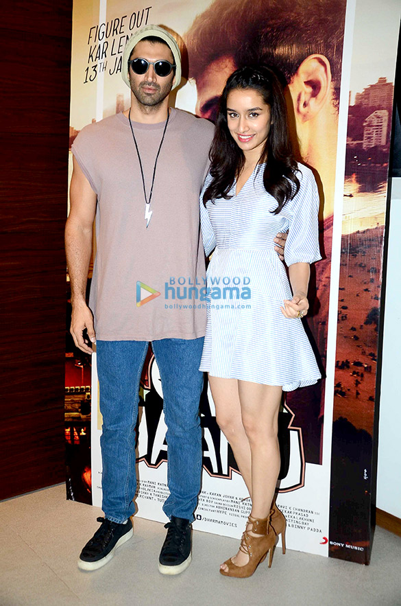 Shraddha Kapoor and Aditya Roy Kapur snapped at 'Ok Jaanu's promotions