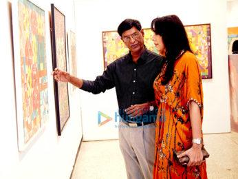 Pooja Bedi, Mukesh Rishi & Raghav Rishi inaugurate Padmanabh Bendre's Timeless Space art exhibition