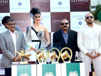 Urvashi Rautela snapped at the Derby in Mumbai