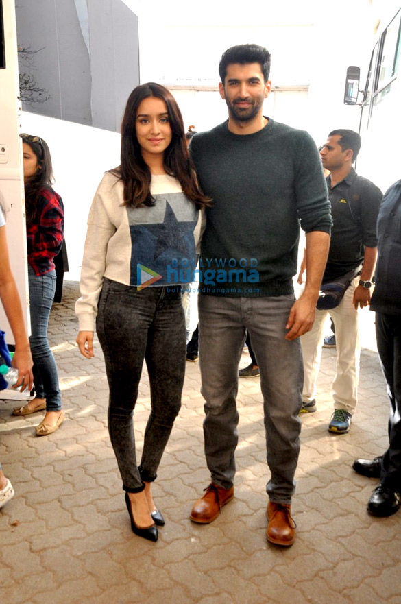 Aditya Roy Kapur & Shraddha Kapoor snapped at 'Ok Jaanu' promotions