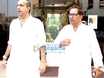 Khayyam, Udit Narayan, Karan Razdan and others attend the chautha of lyricist Naqsh Lyallpuri