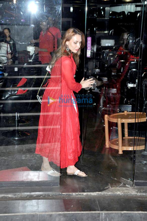 Iulia Vantur snapped outside a salon in Bandra