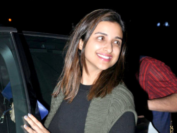Parineeti Chopra snapped with friends post dinner at Salt Water Cafe