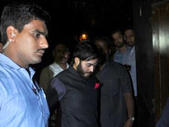 Saif Ali Khan and Anant Ambani snapped at Salman Khan's house