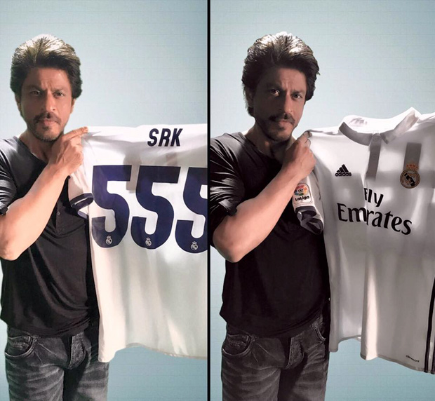 Shah Rukh Khan thanked Real Madrid CF for their gift