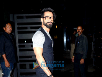 Shahid Kapoor snapped post dinner at Yuatchaa