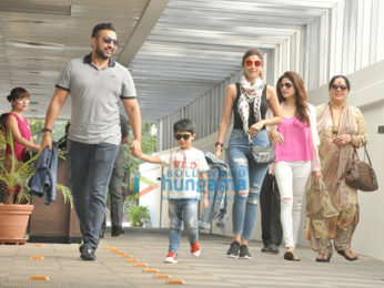 Shilpa Shetty & family snapped post lunch at Hakkasan