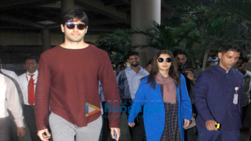 Sidharth Malhotra and Alia Bhatt return from Amsterdam
