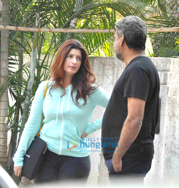 Twinkle Khanna Snapped With R Balki At His Office In