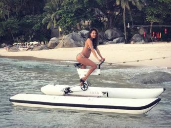 Lisa Haydon continues her bikini shenanigans as she proudly flaunts her baby bump