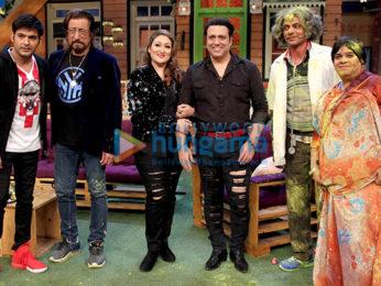 Govinda and Shakti Kapoor snapped on sets of The Kapil Sharma Show