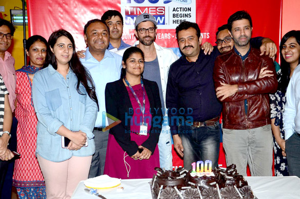 Hrithik Roshan celebrates the presence of the news channel TIMES NOW in 100 countries