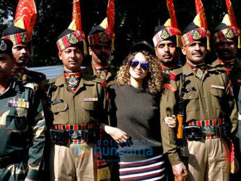 Kangna Ranaut visits the Army camp in Jammu