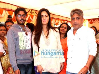Katrina Kaif graces Saraswati Pooja at Anurag Basu's house